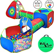5pc Kids Ball Pit Tents and Tunnels, Toddler Jungle Gym Play Tent with Play Crawl Tunnel Toy, for Boys babies infants Childr