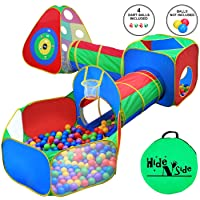 5pc Kids Ball Pit Tents and Tunnels, Toddler Jungle Gym Play Tent with Play Crawl...