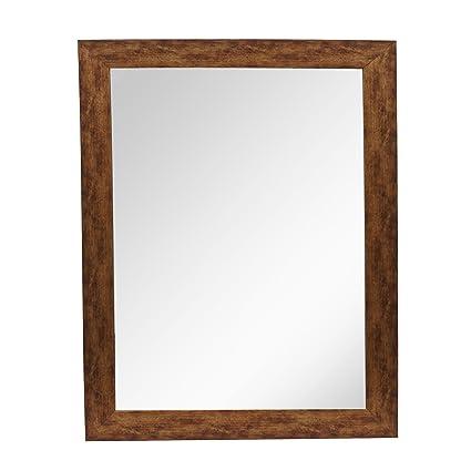 999Store Antique Brown Fiber Framed Bath Wall Mirror