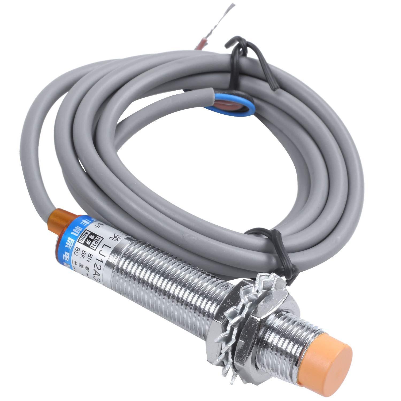 Nrpfell DC6-36V 300mA NPN NO Interrupteur a capteur de proximite inductif tubulaire a 4 fils de 3 fils LJ12A3-4-Z-BX