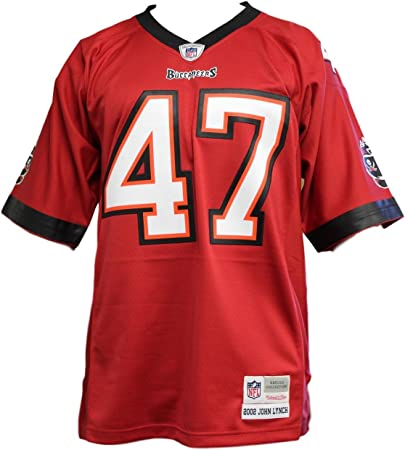 amazon com mitchell ness john lynch tampa bay buccaneers red throwback replica jersey xx large clothing mitchell ness tampa bay buccaneers john lynch throwback replica jersey