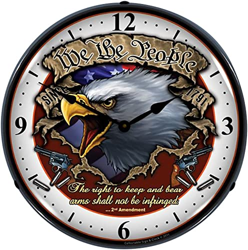 Collectable Sign and Clock SM1103313 14 We The People Lighted Clock
