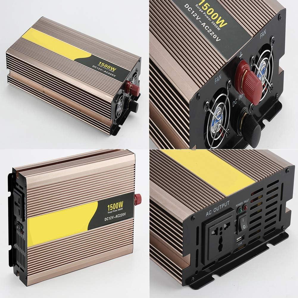 Intelligent Screen Pure Sine Wave Power Inverter 12v//24v 48vto 220v Rated Power//peak Power 300w//600w-2500w//5000w Converter Adapter Lcd Screen,600W/_12V220V