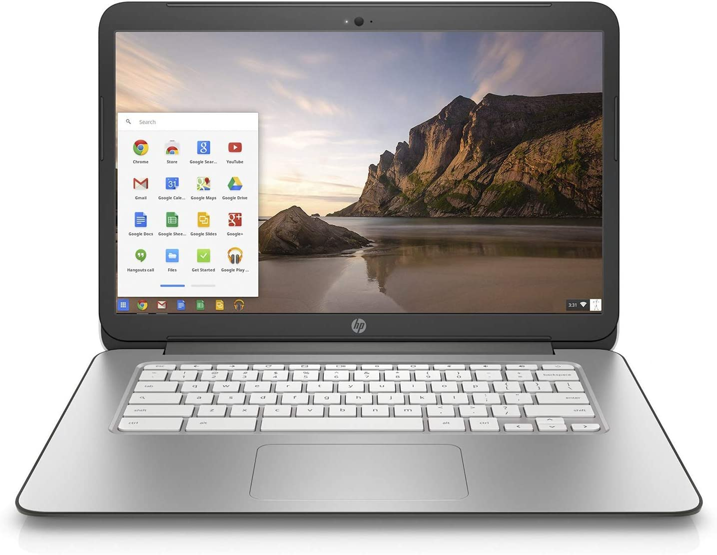 HP Chromebook 14 G3 K4K11UA - 14-inch Laptop, Quad-Core 2.10GHz, 4GB RAM, 16GB SSD, Black (Renewed)