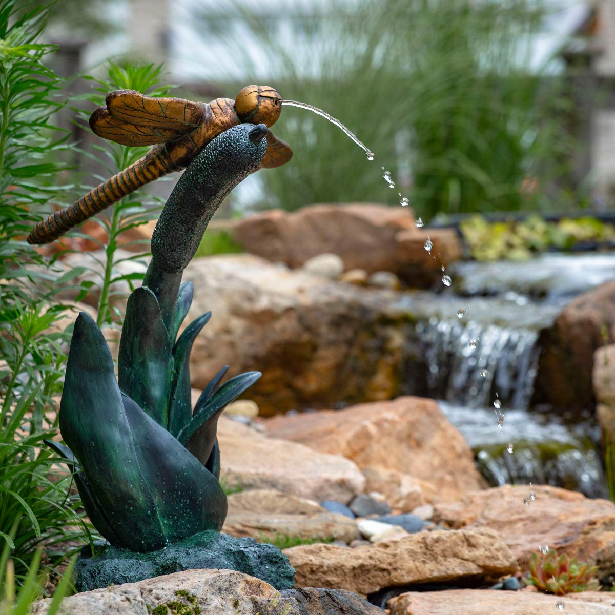 Aquascape Dragonfly Spitter Fountain for Ponds and Water Gardens | 78303 by Aquascape
