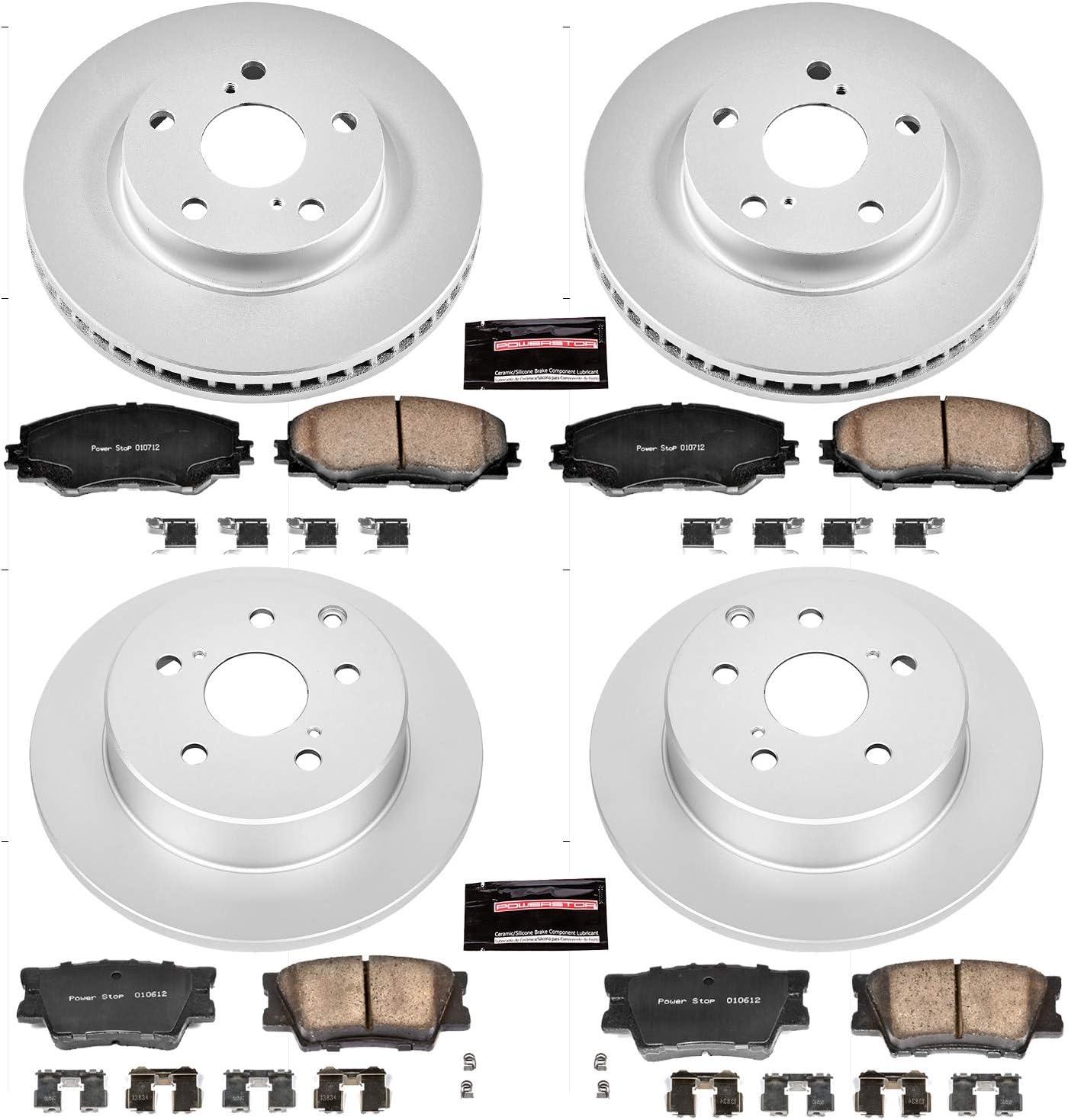 Power Stop CRK5800 front and rear Z23 Evolution Geomet Coated Brake Kit