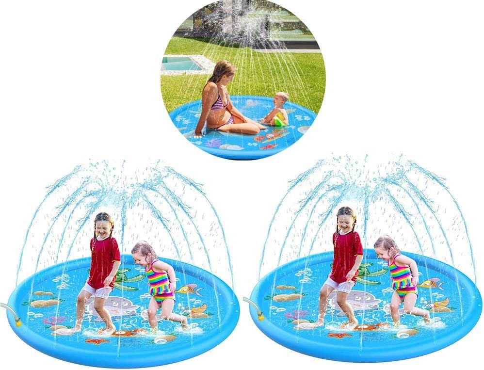 for Kids170cm Inflatable Sprinkler Splash Pad Play Mat Water Toys Swimming Pool