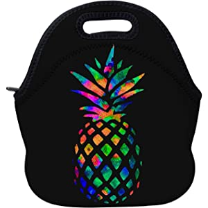d5aa613a766f Amazon.com: Aiphamy Pineapple Neoprene Lunch Bag Insulated Lunch Box ...