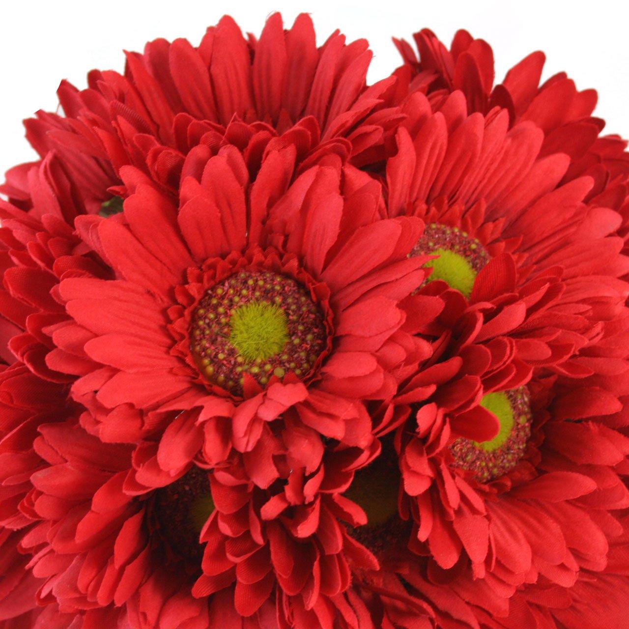 Amazon red daisy bouquet bridal wedding bouquet home kitchen izmirmasajfo