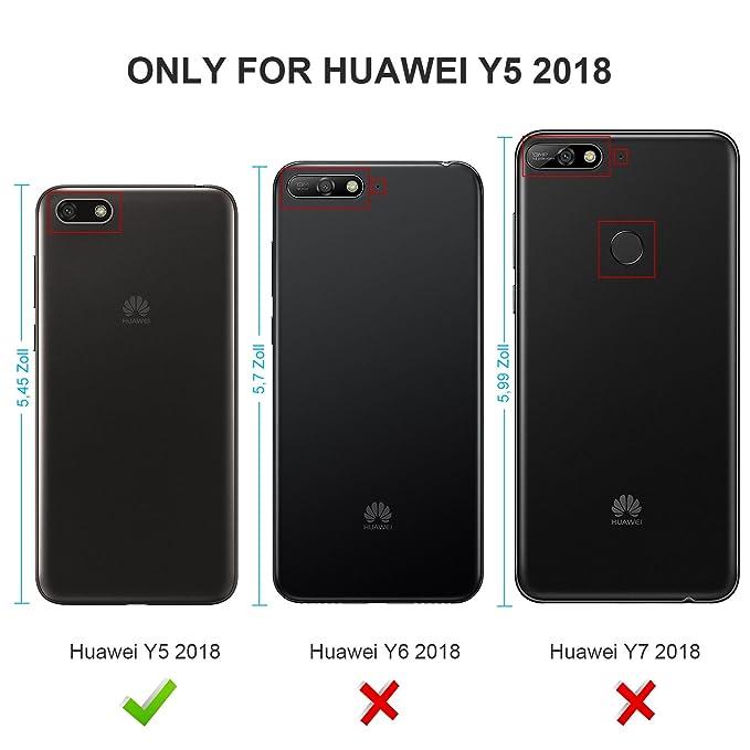 Geemai Huawei Y5 2018/Y5 Prime 2018 Funda, Slim Case Protectora PU Funda Multi-ngulo a Prueba de Golpes y Polvo a Prueba de Silicona con Soporte Plegable ...