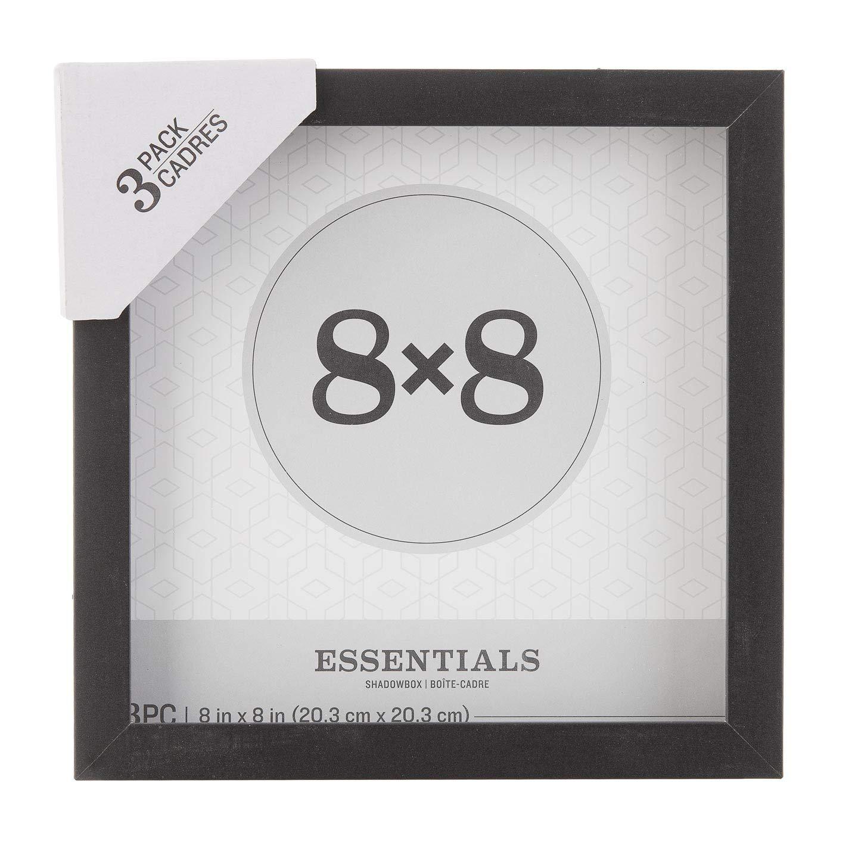 Darice Essentials Black 8 x 8 inches, 3 Pieces Shadow Box 30066431