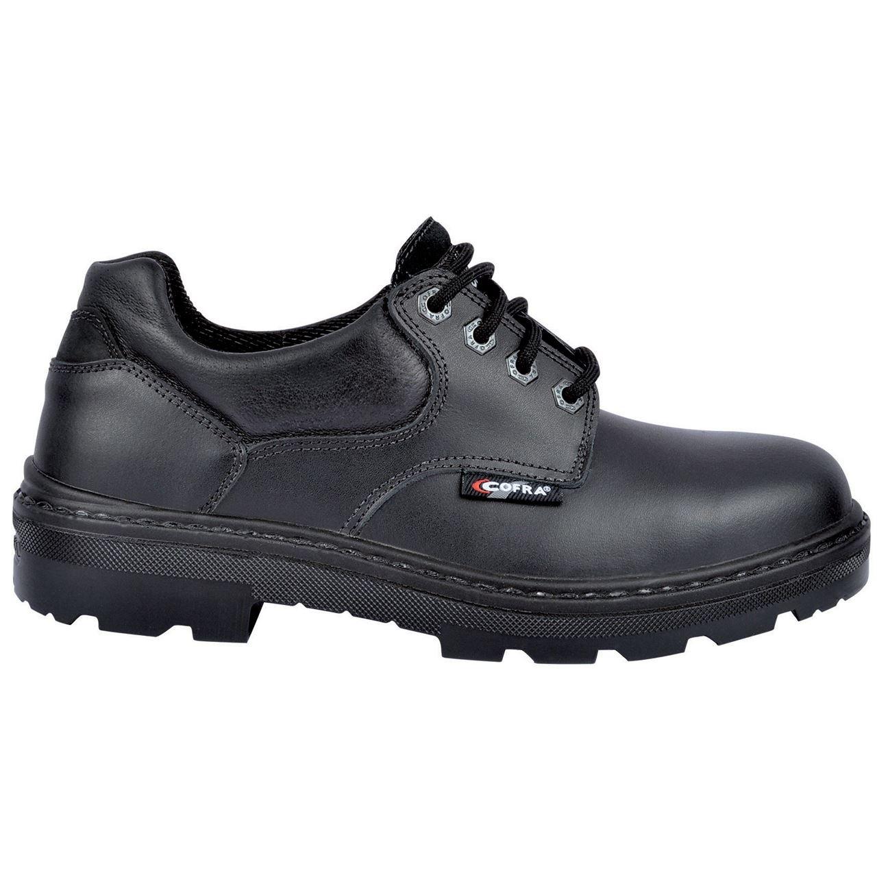 COFRA klein Herren Sicherheit Schuhe atmungsaktiv Wasserabweisendes Obermaterial S3 Arbeit Schuhe Schuhe Arbeit Schwarz e75047