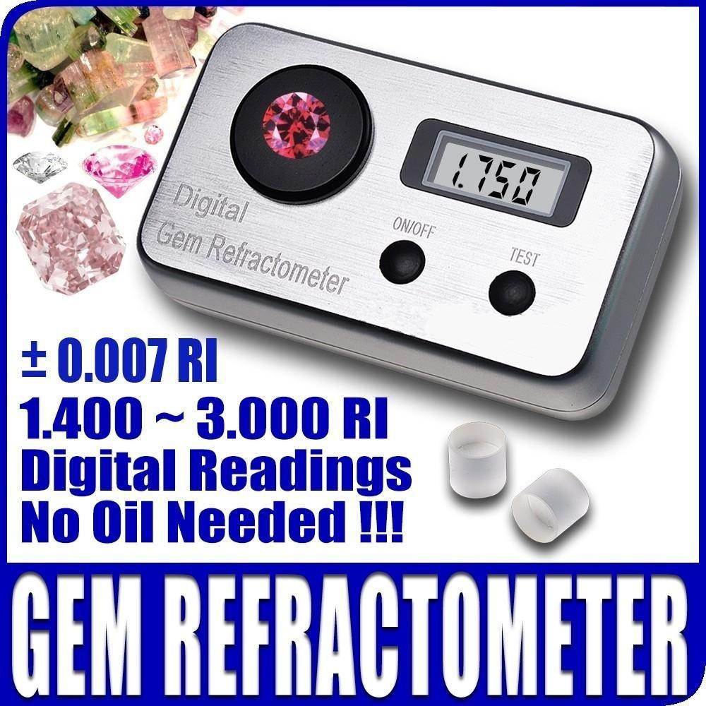 Ade Advanced Optics Digital/electronic Gem Refractometer 1 4~3 0 Ri  Gemological Gemstone Diamond Jewel Testing Tool
