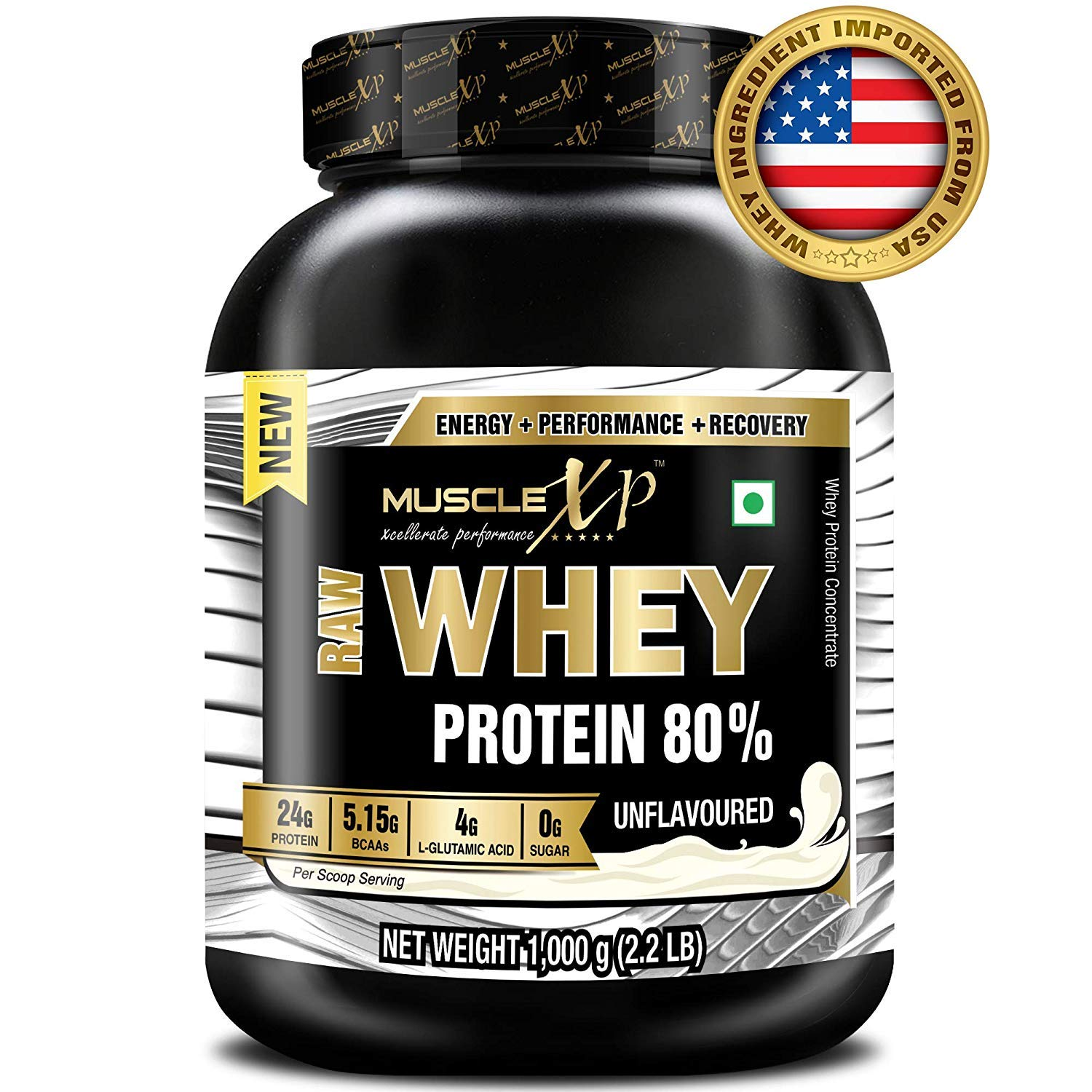 MuscleXP Raw Whey Protein Concentrate 80 Powder Unflavored