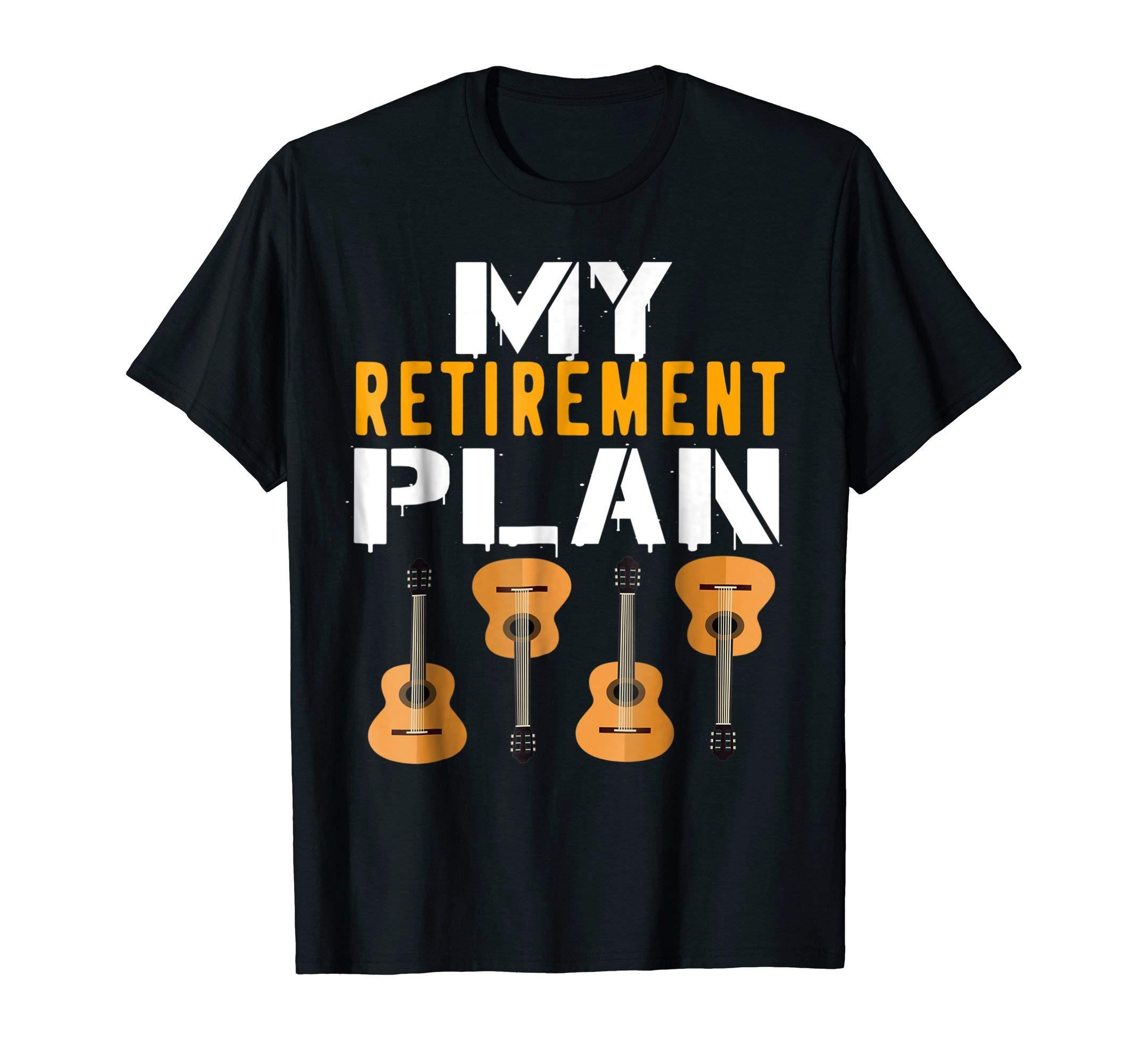 Guitars Acoustic Classic Musician Guitar Joke Humor T-Shirt by Guitars Acoustic Designs Tees