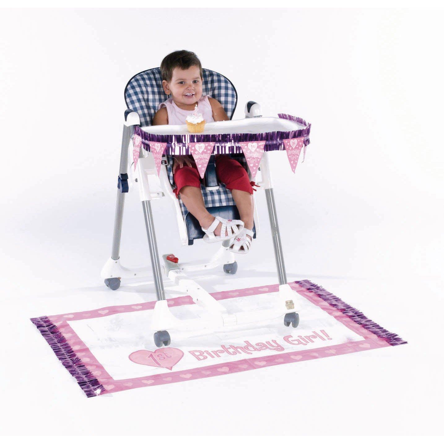 Amazon.com: Baby Girlu0027s First Birthday High Chair Decorating Kit, 2pc: Toys  U0026 Games