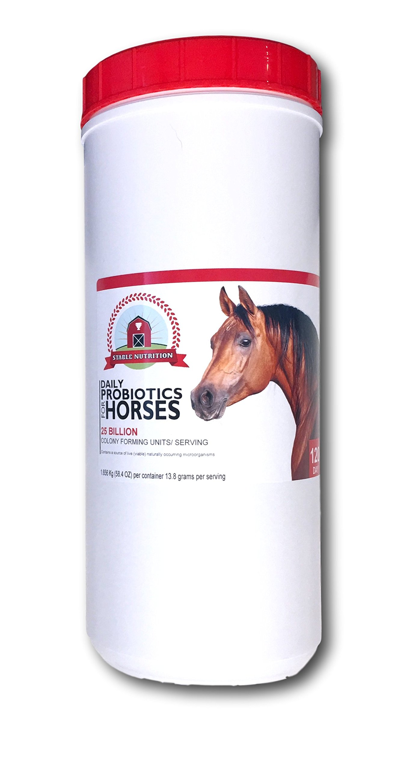 Stable Nutrition THE BEST Probiotics for Horses (120 Day) Equine Digestive Support Supplement