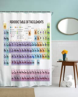 Periodic table shower curtain by smart eva vinyl amazon home nirvana bathroom shower curtain periodic table of elements with hooks waterproof odorless eco friendly anti bacterial urtaz Choice Image