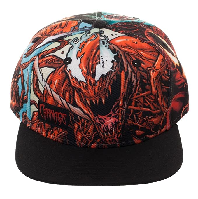 38fed2c0 Image Unavailable. Image not available for. Color: Bioworld Marvel Comics  Carnage Sublimated Crown Black Bill Snapback