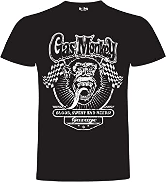Gas Monkey Garage T-Shirt Two Flags Black-L: Amazon.es: Ropa y ...