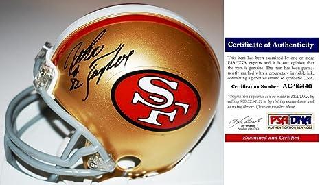 Amazon.com  John Taylor Autographed Mini Helmet - Certificate of  Authenticity COA) - PSA DNA Certified - Autographed NFL Mini Helmets   Sports Collectibles 9a05bcb1e
