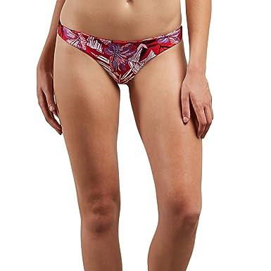 ada5bd6f4f7 Volcom Junior's Sonic Bloom Mini Tiny Coverage Bikini Bottom True Red