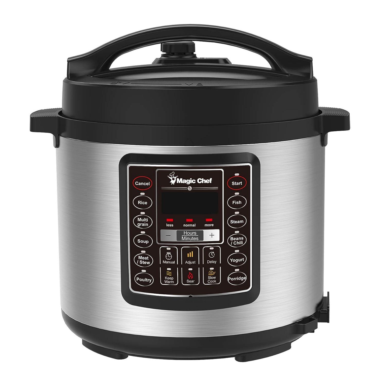 Magic Chef MCPMCSMC10S7 6 Qt. All-in-One Multi-Cooker 14.80in. x 13.30in. x 13.00in. Silver/Black