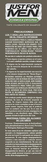 Just for Men Tinte colorante en Shampoo, color Negro (H-55), 66 ml ...