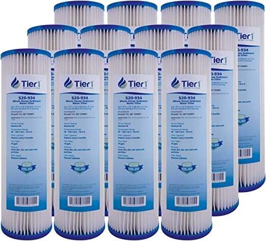 Pentek S1 20 Micron Standard 10 x 2.5 Whole House Pleated Sediment Water Filter