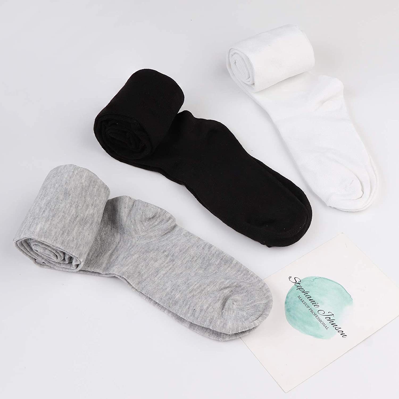 FIBO STEEL 8 Pairs Long Thigh High Socks for Women Girls Striped Knee High Leg Warmers