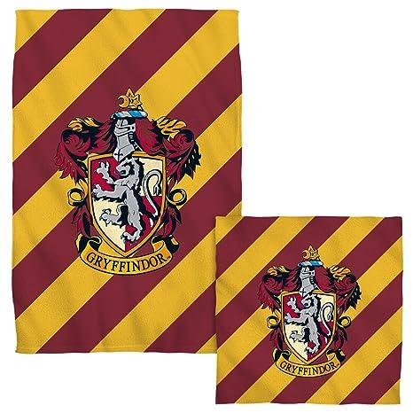 Gryffindor Crest – -Harry Potter – -Cara y juego de toallas de mano (