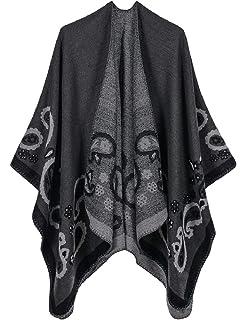 Hadudu Women Print Poncho Batwing Sleeve Pullover Loose Casual Hoodies Sweatshirt