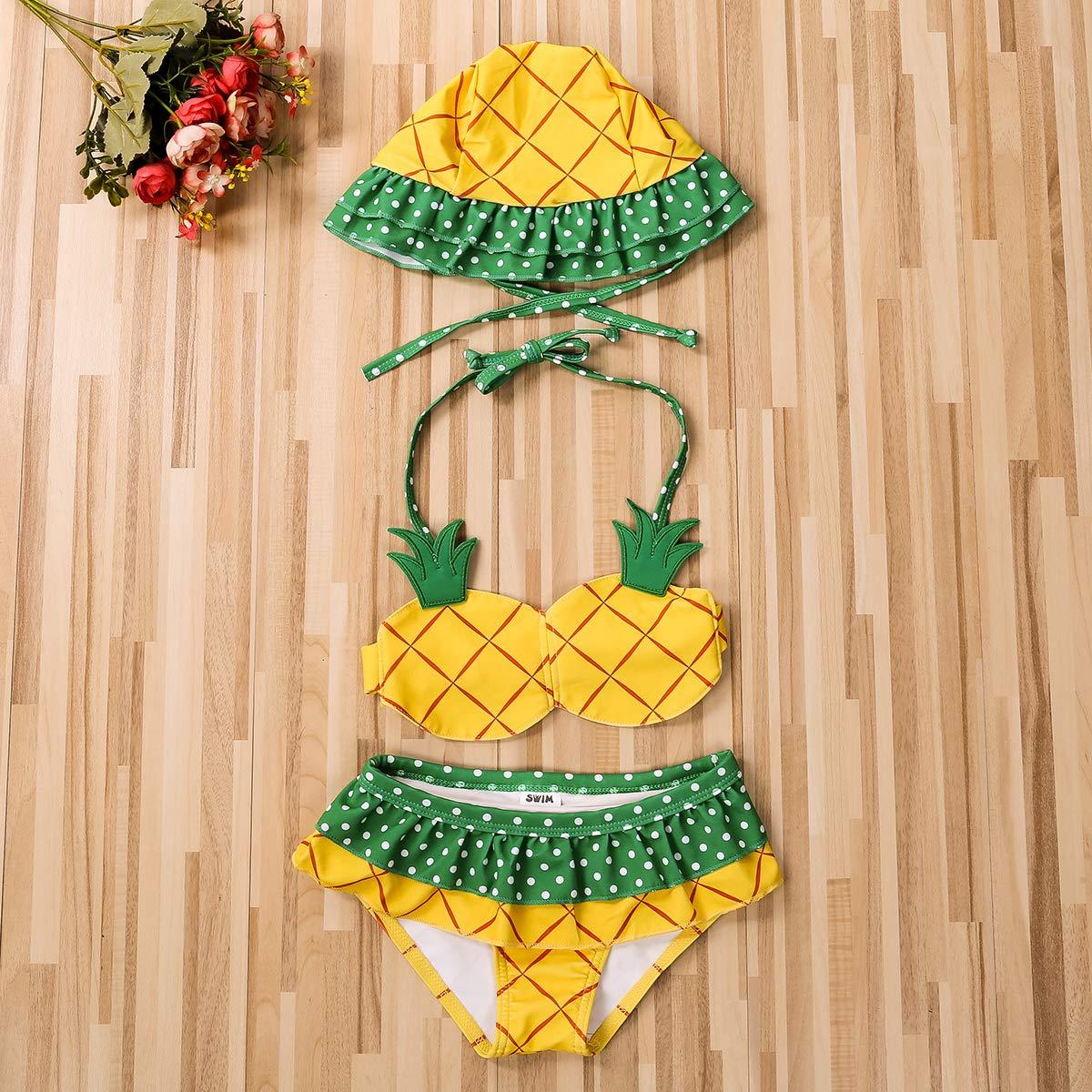 Listogether Toddler Kids Baby Girls Cute Pineapple Bikini Swimwear Summer Beach Tankini Swimsuit Bathing Suit Beachwear