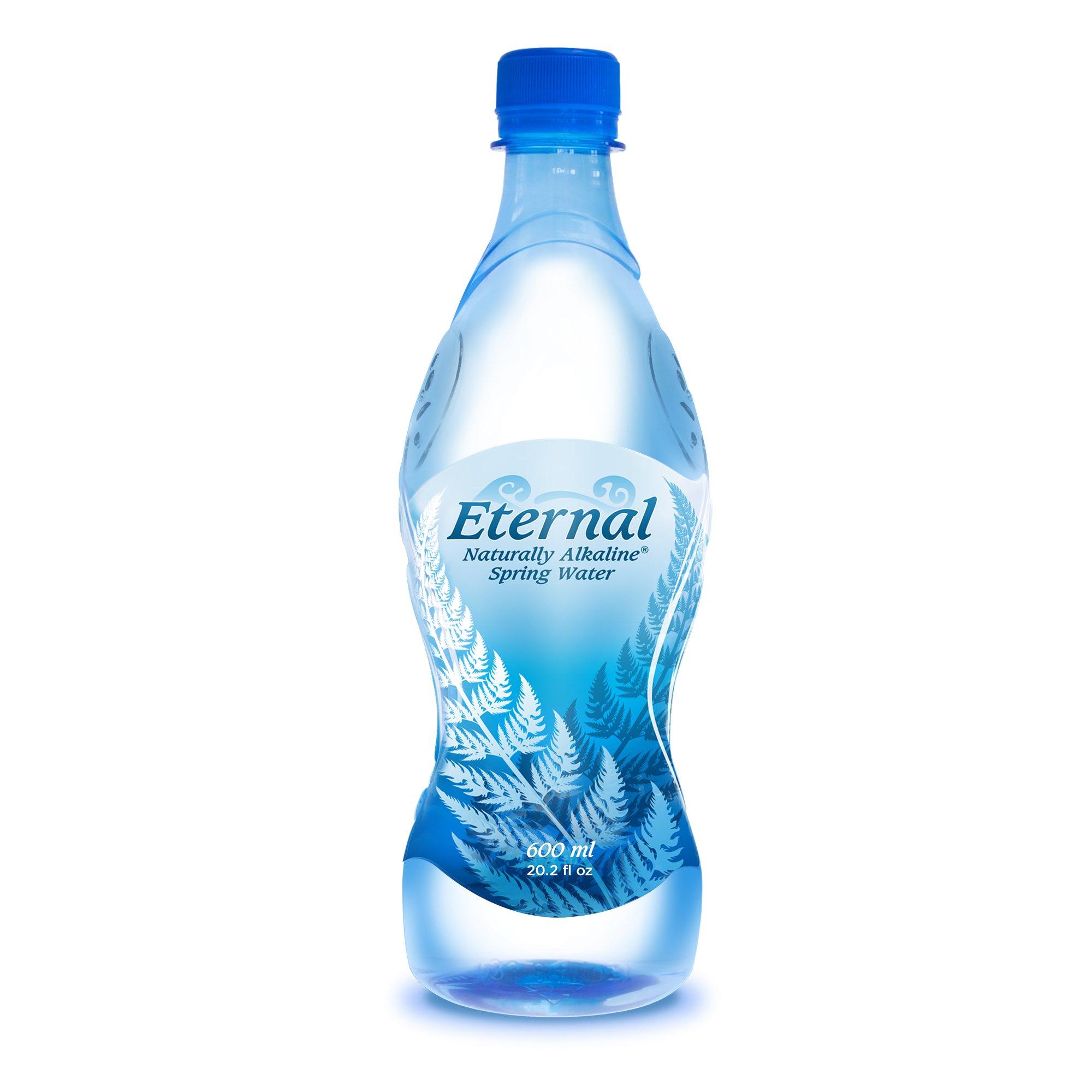 Eternal Water Naturally Alkaline Spring Water, 600 ml, 24 Count