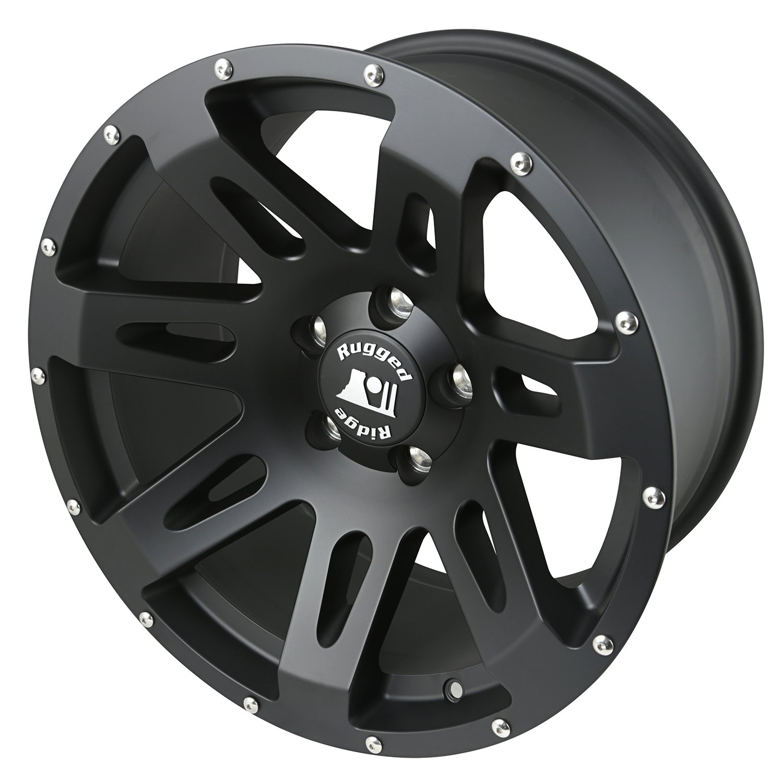 Rugged Ridge 15305.01 XHD Black Satin Wheel for Select Jeep Wrangler JK Models  (18x9''/5''x5'')