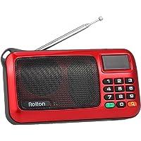 Docooler Rolton W405 FM Radio Digital Portátil USB con Cable Equipo Altavoz Receptor estéreo HiFi con Linterna LED Pantalla Soporte TF Música Play
