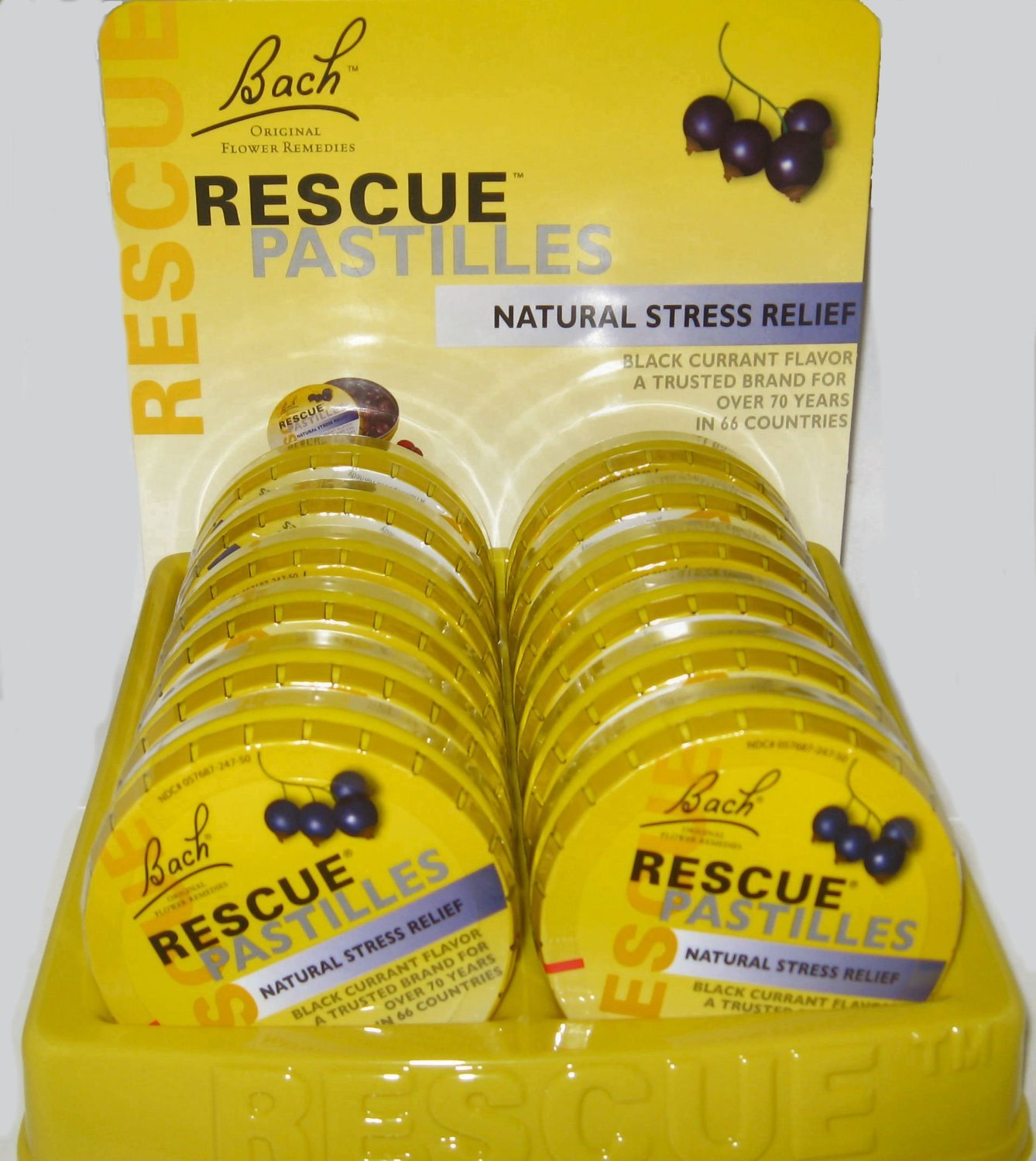 Nelson Bach USA - Rescue Remedy Pastille, Black Currant Flavor, 12 packs