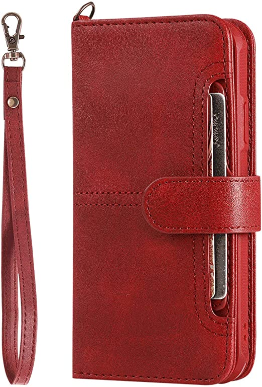 Flip Case for Samsung Galaxy S9 Leather Cover Business Gifts Wallet with Extra Waterproof Underwater Case