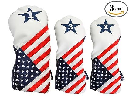 Amazon.com: EE. UU. 1 3 x palo de golf Patriot Retro ...