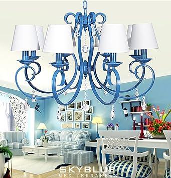 NAUY American Village Iron Blue Kronleuchter Wohnzimmer Esszimmer ...