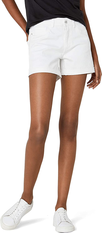 42 Taglia Produttore: Small Bianco Vero Moda NOS Vmhot Seven Nw DNM Fold Shorts Mix Noos Bright White Bright White