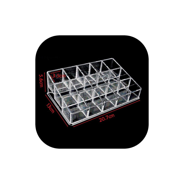 15 Slots Desktop Decor Acrylic Cosmetic Storage Box Jewelry Storage Lipstick Make-up Brush Holder Display Stand Shelves,Clear