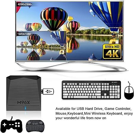 7.1 Android Smart TV Box con Amlogic S905 X [de 64 bits 2 GB RAM 16 GB ROM] y dual-wifi 2,4 gHz/5.0ghz/100 m LAN reproducción Bluetooth 4.0 con mando a distancia: Amazon.es: Electrónica