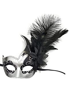 Amazon.com: Máscara veneciana para carnaval, para mujer, con ...