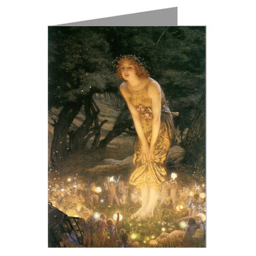Amazon Vintage Art Cards Single Edward Robert Hughes Greeting