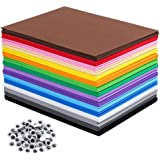 80 PCS EVA Foam Handicraft Sheets, Craft Foam Sheets Assorted Colorful for Craft Projects,Kids DIY Projects Classroom…