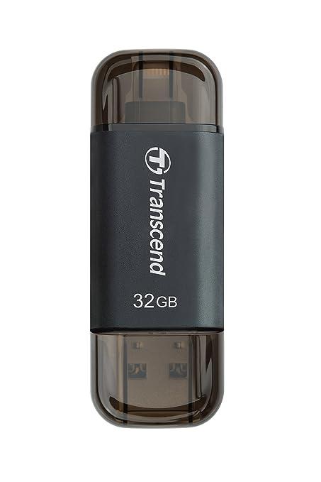 Transcend TS32GJDG300K - Memoria USB de 32 GB (USB 3.0/Lightning ...
