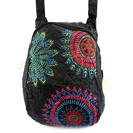 Bolsa extra de regreso Desigualnegro multicolor.: Amazon ...
