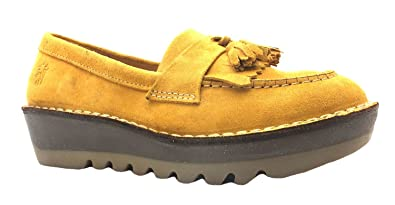 7a172b5f03e Size 8 Women s Juno Fly London Mustard Yellow Thick Sole Tassel Loafers