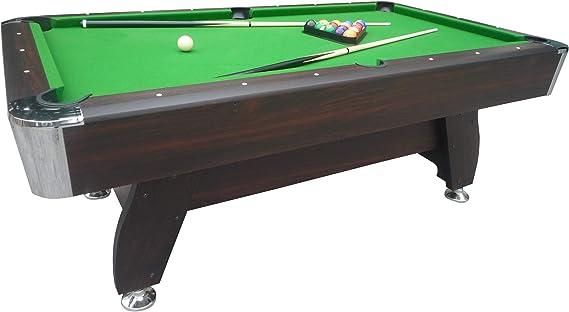 Billar americano marrón con retorno de bolas automático y accesorios, alfombra verde: Amazon.es: Deportes y aire libre